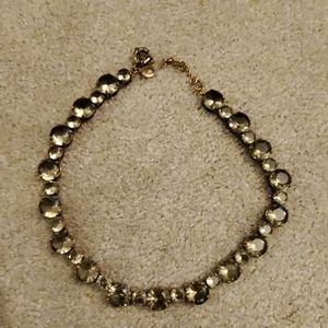 J. Crew blue crystal statement necklace